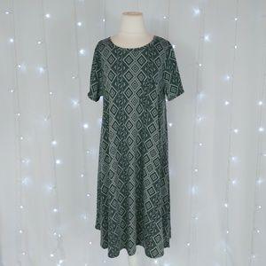 LuLaRoe Gray Geometric Carly Dress